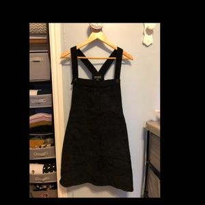 Mini skirt corduroy overalls